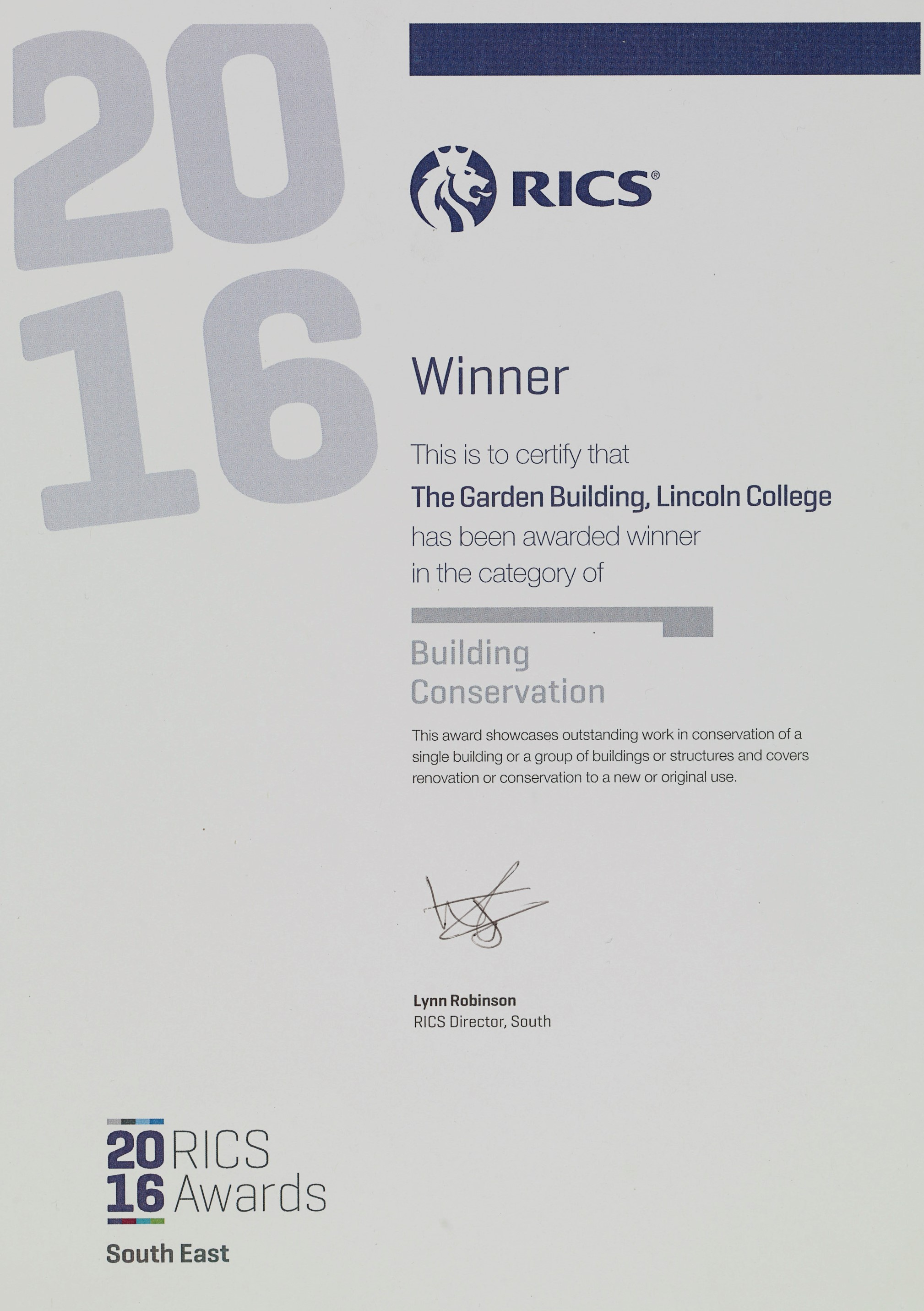 Lincoln College Garden Building by Stanton Williams won the RIBA Building Conservation Award 2016