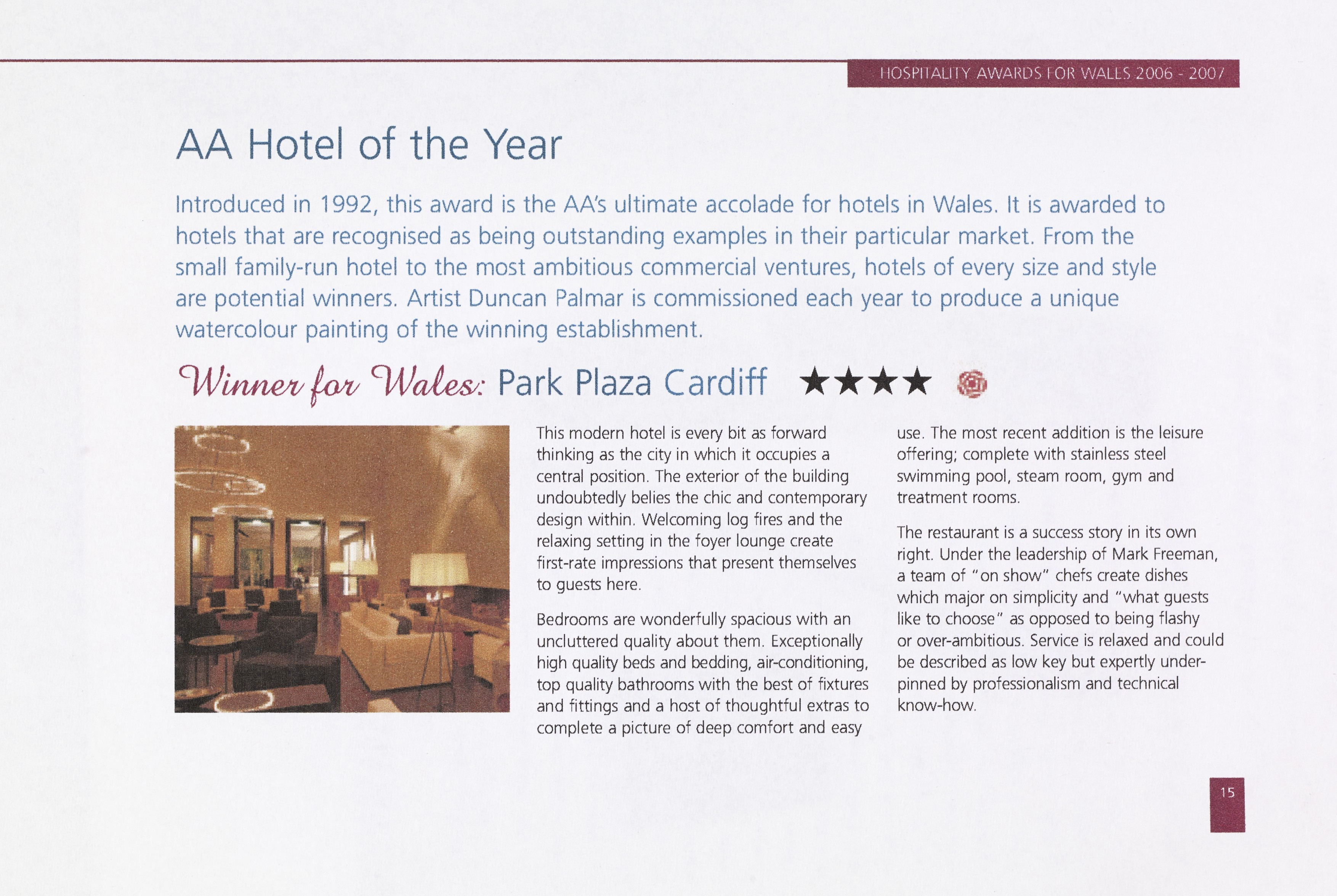 Cardiff Hotel by Baronowitz Kronenberg and John Wotton Architects won the 2007 AA Hotel of the Year Award Wales
