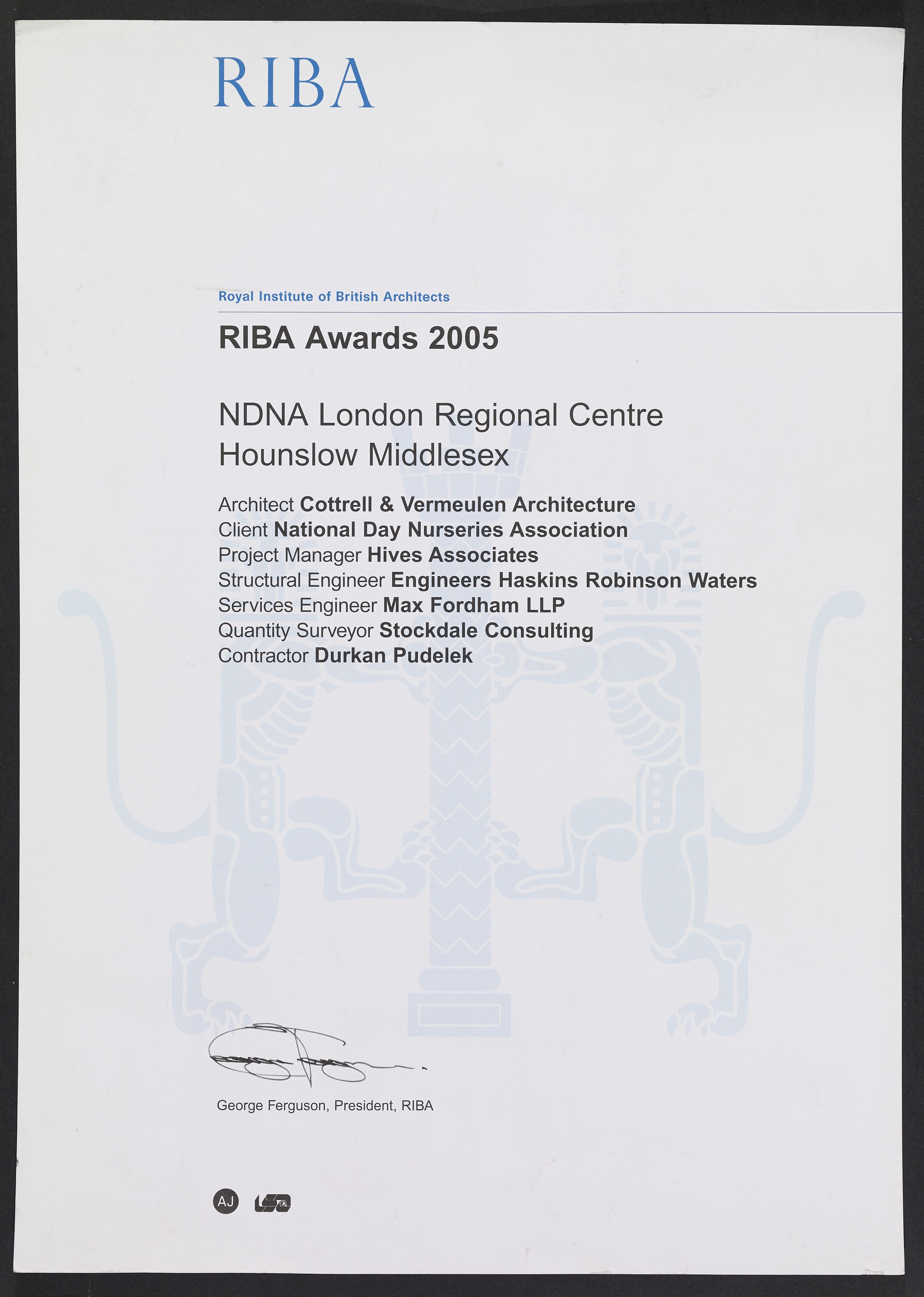 Neighbourhood Nursery, Southall by Cottrell and Vermulen Architecture won a RIBA award in 2005
