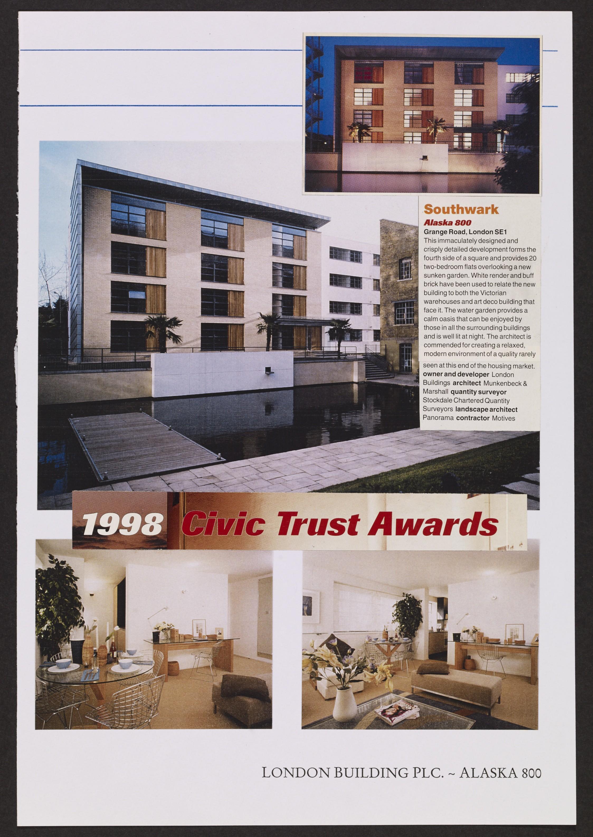 Alaska 800 features in the Civics Trusts Awards