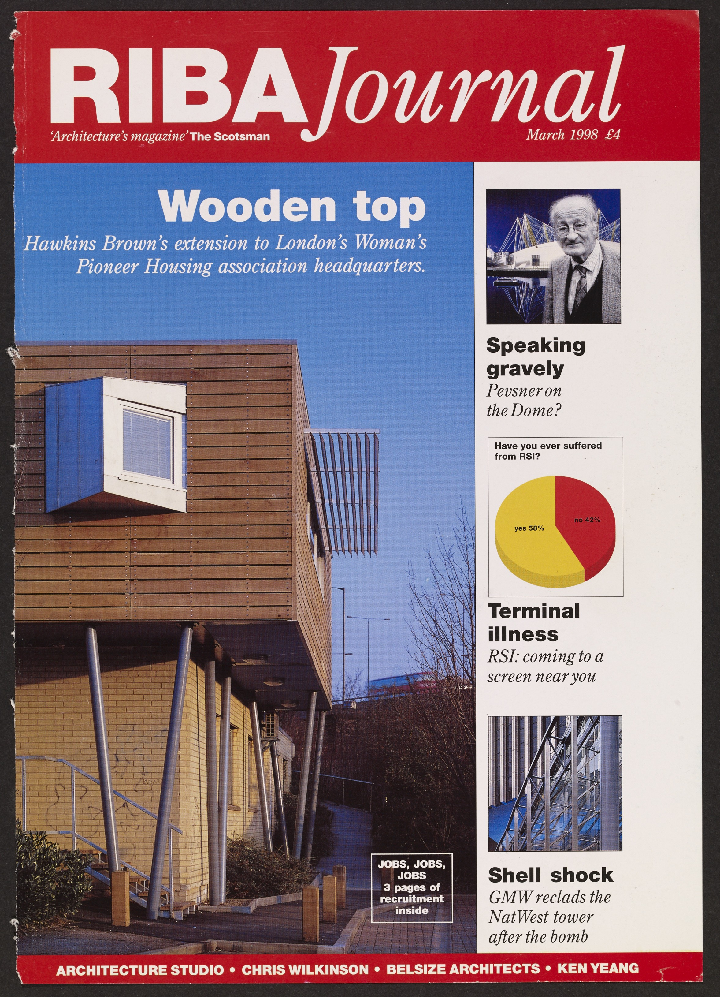 Women's Pioneer Housing by Hawkins/Brown featured in Architect's Journal in 1998