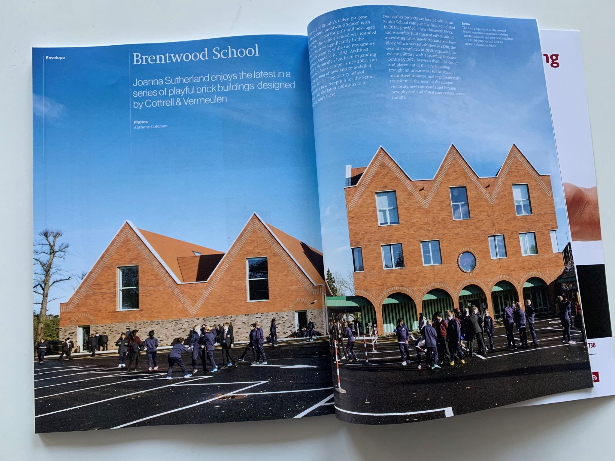 Brentwood School Featured in Architecture Today